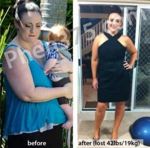 Rachel perdió 42 libras con Phen375